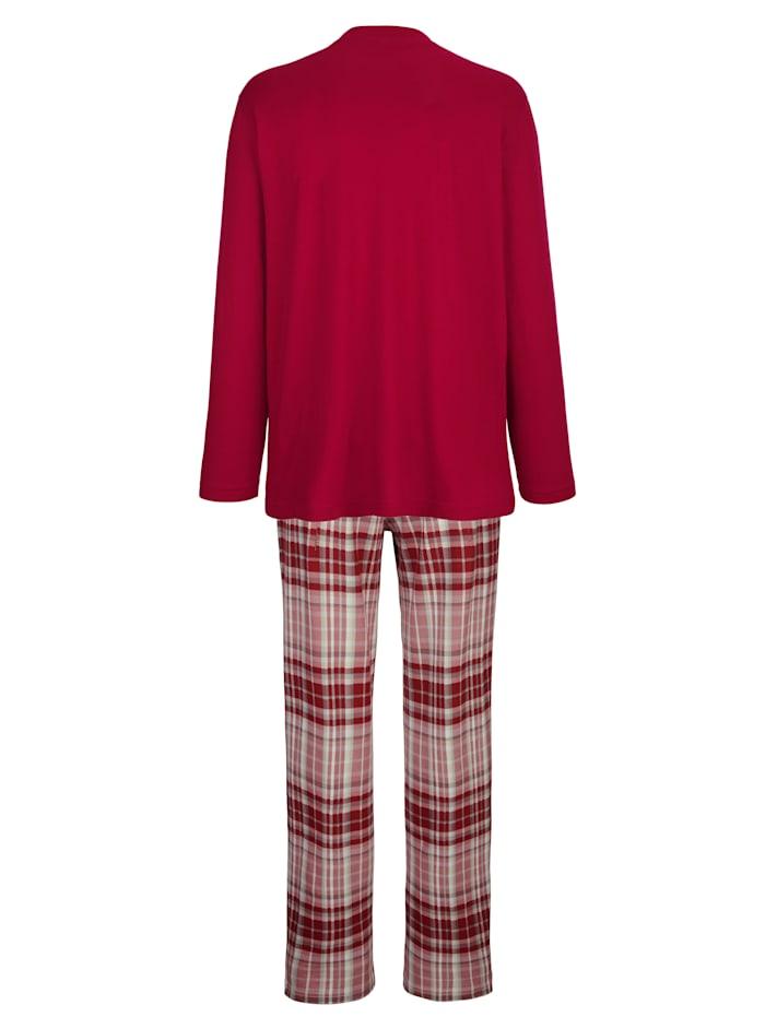 Ruutuhousullinen pyjama 2/pakkaus
