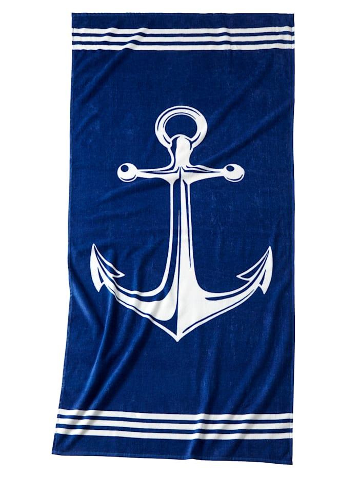 Drap de plage, Bleu