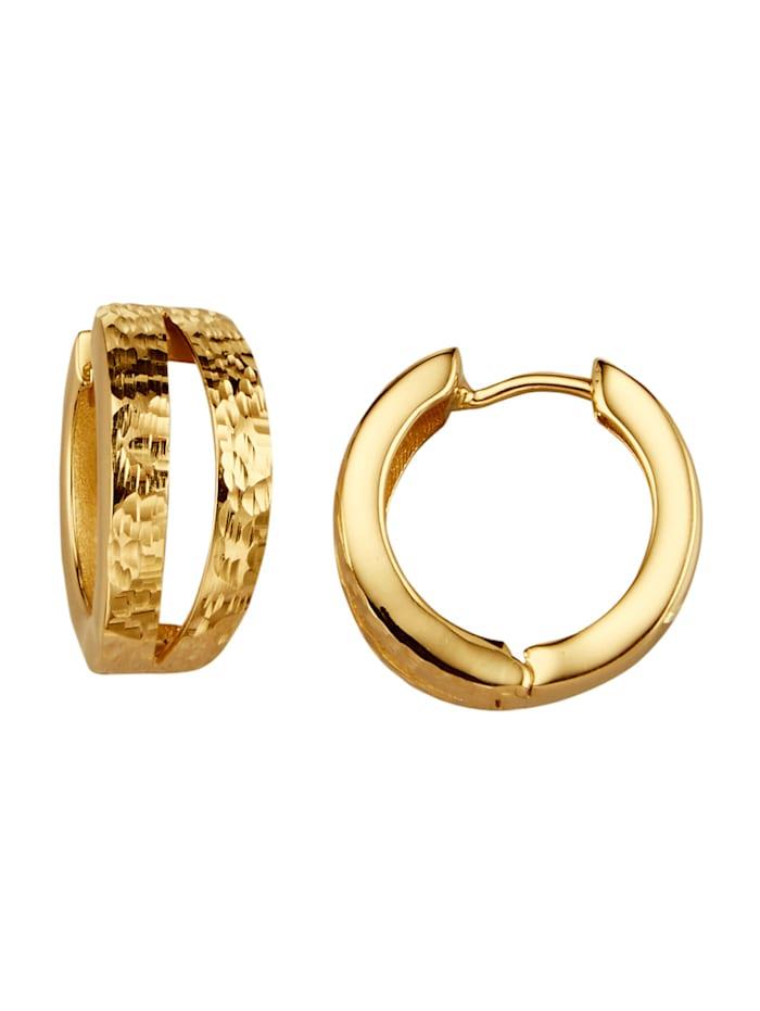 Diemer Gold Creolen van 14 kt., Geelgoudkleur
