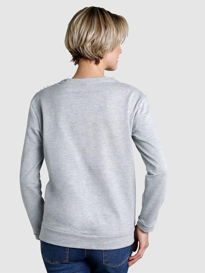 Sweatshirt mit Perlenverzierung