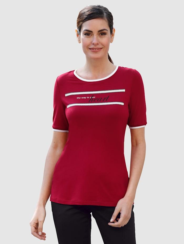 Laura Kent Shirt met steentjes voor, Rood