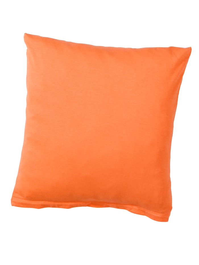 Webschatz Baumwoll 'Basic' Kissen 2er Pack, orange