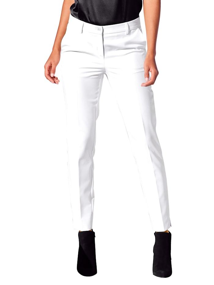 AMY VERMONT Hose mit Formbund und Gürtelschlaufen, Off-white