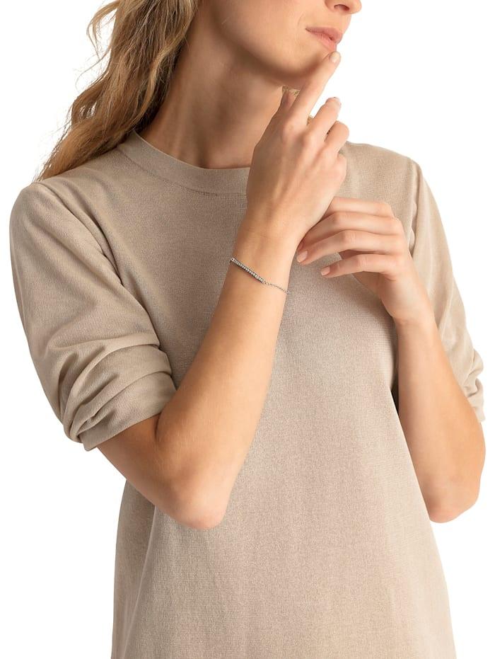 FAVS Damen-Armband Edelstahl 16 Zirkonia