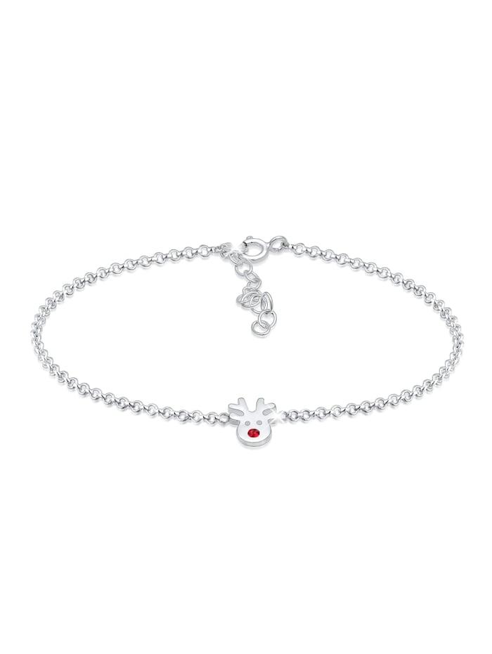 Elli Armband Erbskette Rentier Kristalle 925 Silber, Silber