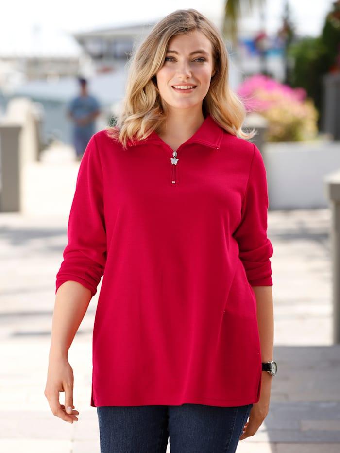 m. collection Sweat-shirt de style basique tendance, Rouge