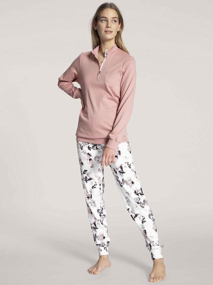 Calida Bündchen-Pyjama STANDARD 100 by OEKO-TEX zertifiziert, Rose Bud