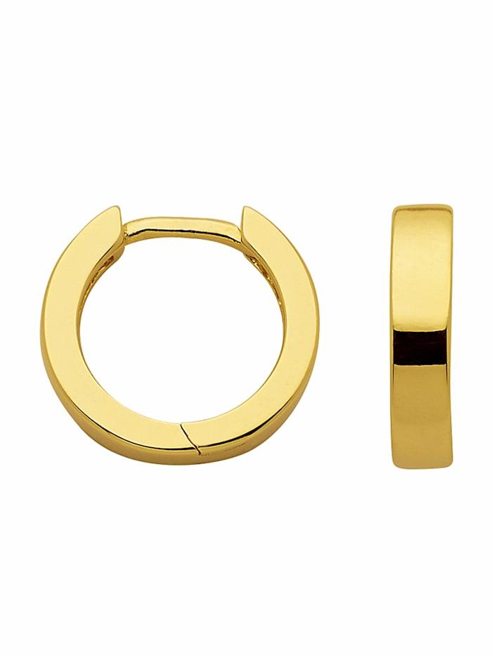 1001 Diamonds 1001 Diamonds Damen Silberschmuck 925 Silber Ohrringe / Creolen Ø 11,6 mm, vergoldet