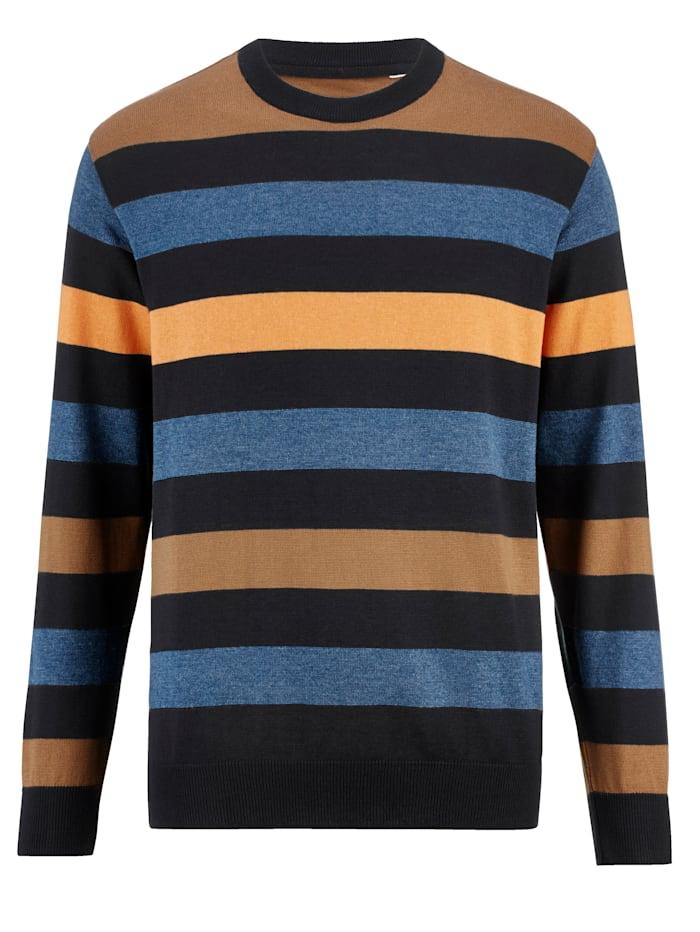 BABISTA Pullover aus Feinstrick, Marineblau/Braun
