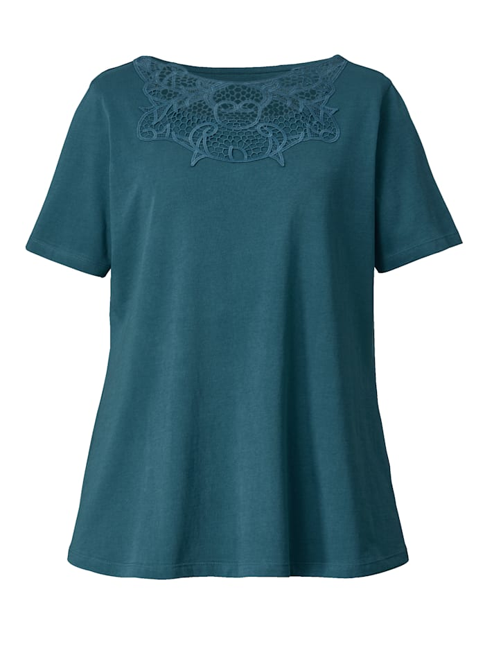 Shirt mit Spitzeneinsatz