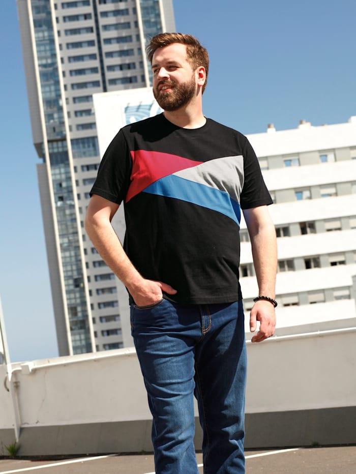 T-shirt en color block