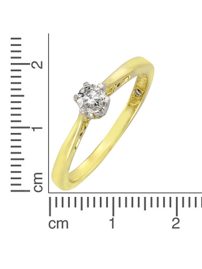 Ring 585/- Gold Brillant weiß Brillant Glänzend 0,25ct. 585/- Gold