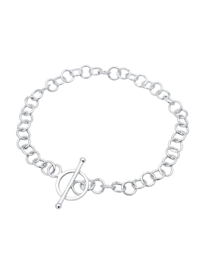 Armband Basic Charmträger Ankerkette Geo Kreis 925 Silber