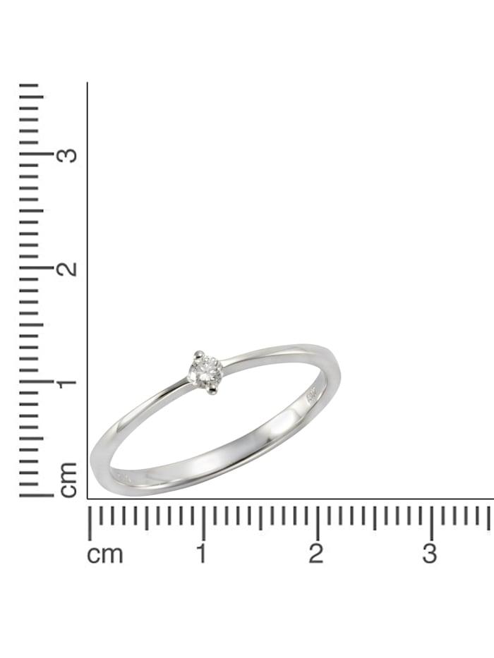 Ring 585/- Gold Brillant weiß Brillant Glänzend 0.07Karat 585/- Gold