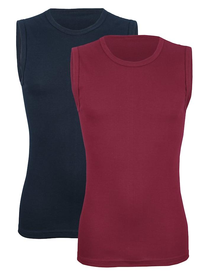 Mouwloos shirt in klassieke kleuren 2 stuks