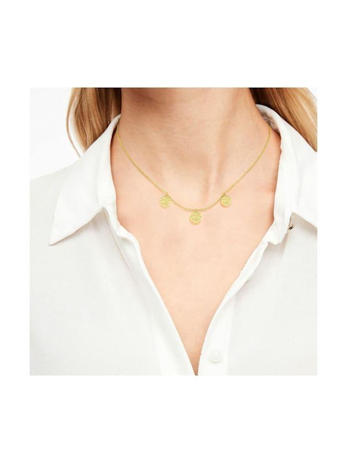 Halskette für Damen, 925 Sterling Silber vergoldet