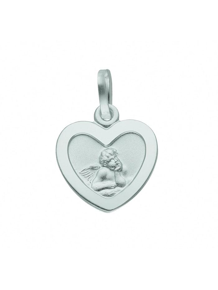 1001 Diamonds Damen Silberschmuck 925 Silber Anhänger Amor, silber