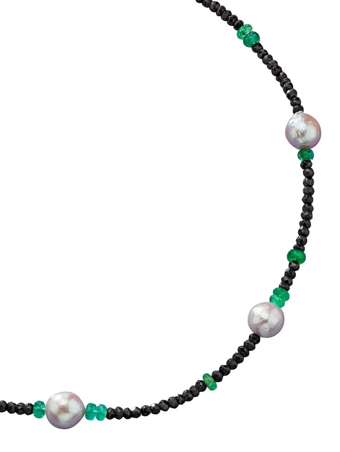 Diemer Farbstein Ketting met spinel en smaragden, Multicolor