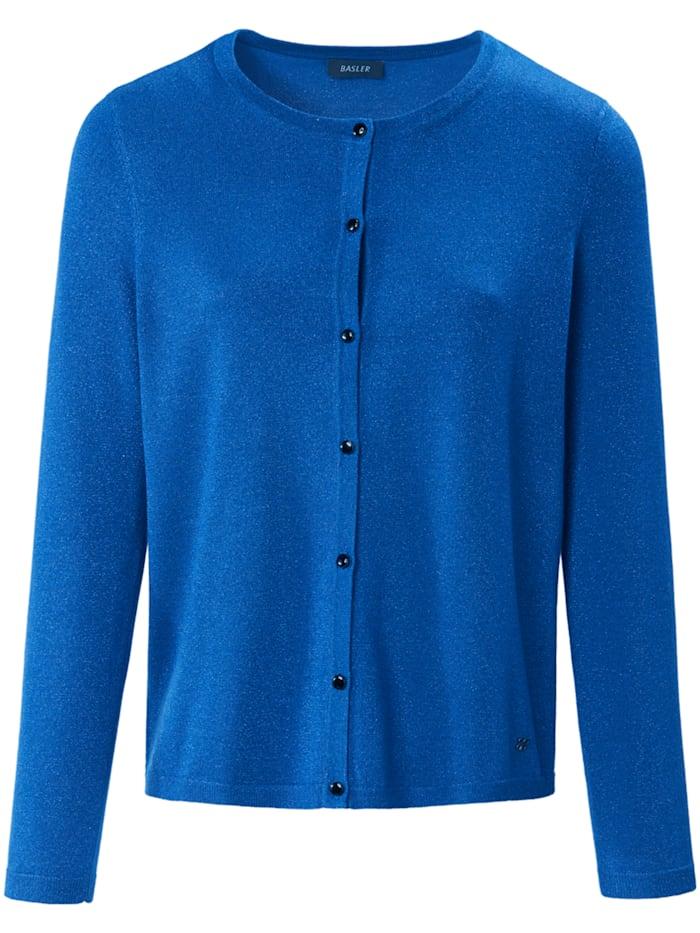 Basler Strickjacke mit Schimmer-Effekt und Knöpfen, electric blue
