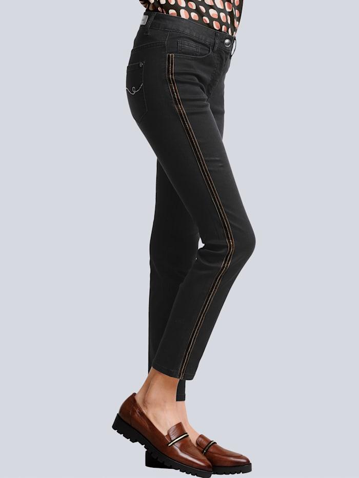Alba Moda Jeans in trageangenehmer elastischer Qualität, Black stone