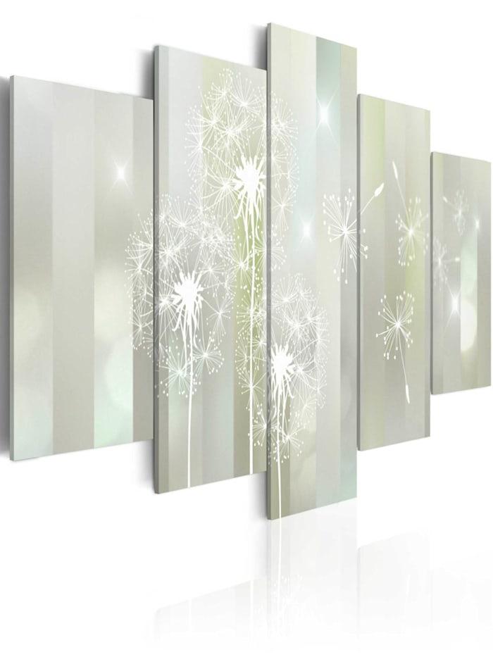 artgeist Wandbild Emerald Spell, Weiß,Grau