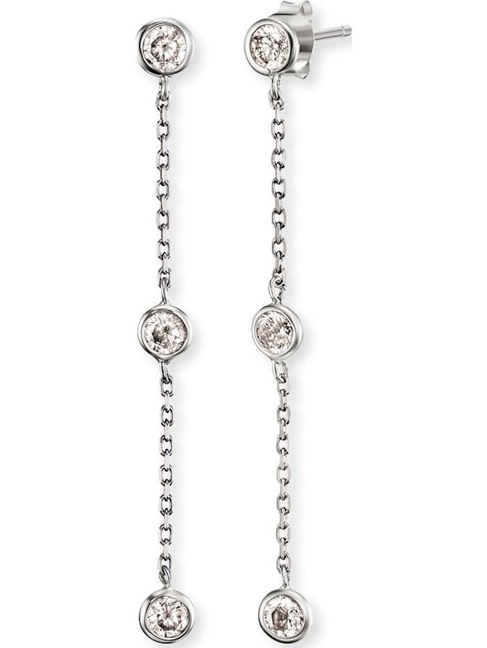 Engelsrufer Engelsrufer Damen-Ohrstecker Moonlight 925er Silber rhodiniert 6 Zirkon, silber