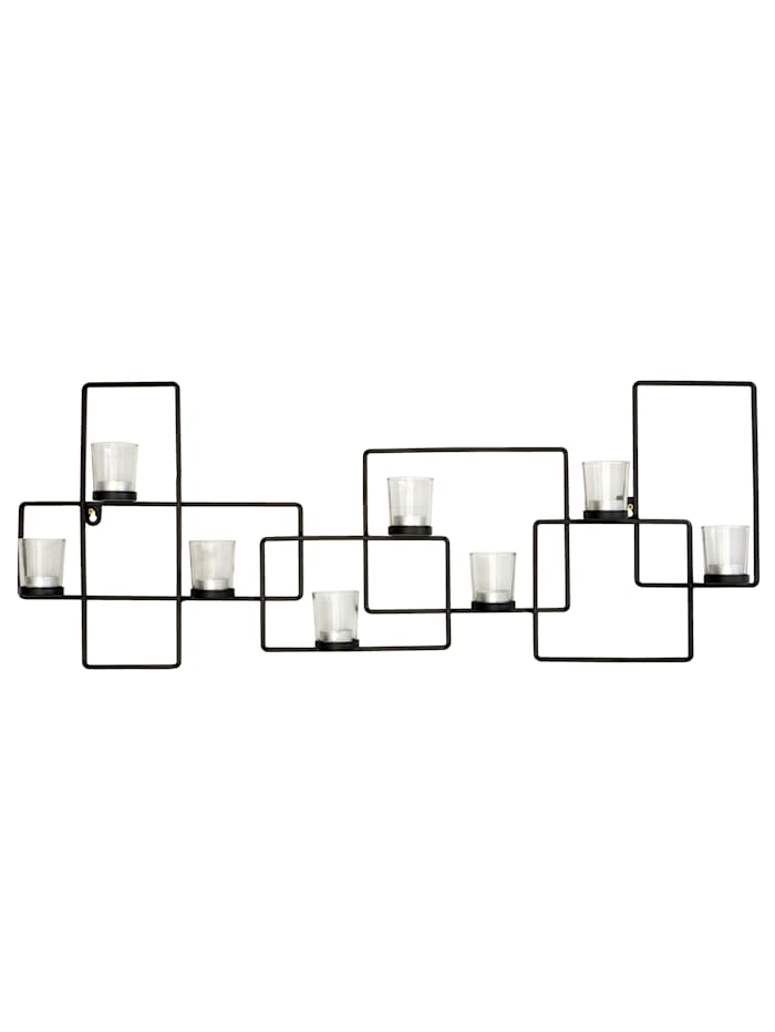 IMPRESSIONEN living Wand-Deko, Teelichthalter, schwarz