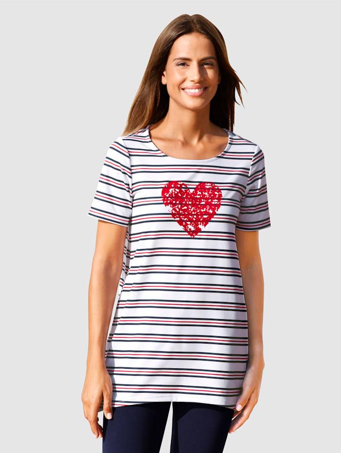 basically you Shirt met maritiem design, Wit