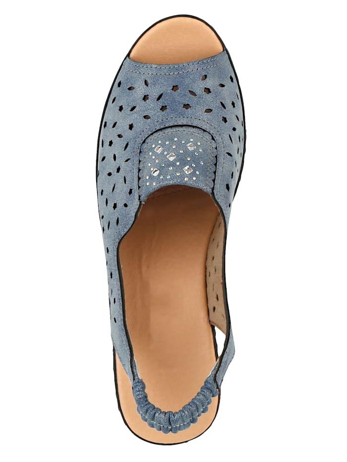 Sandaaltje met glitterapplicatie