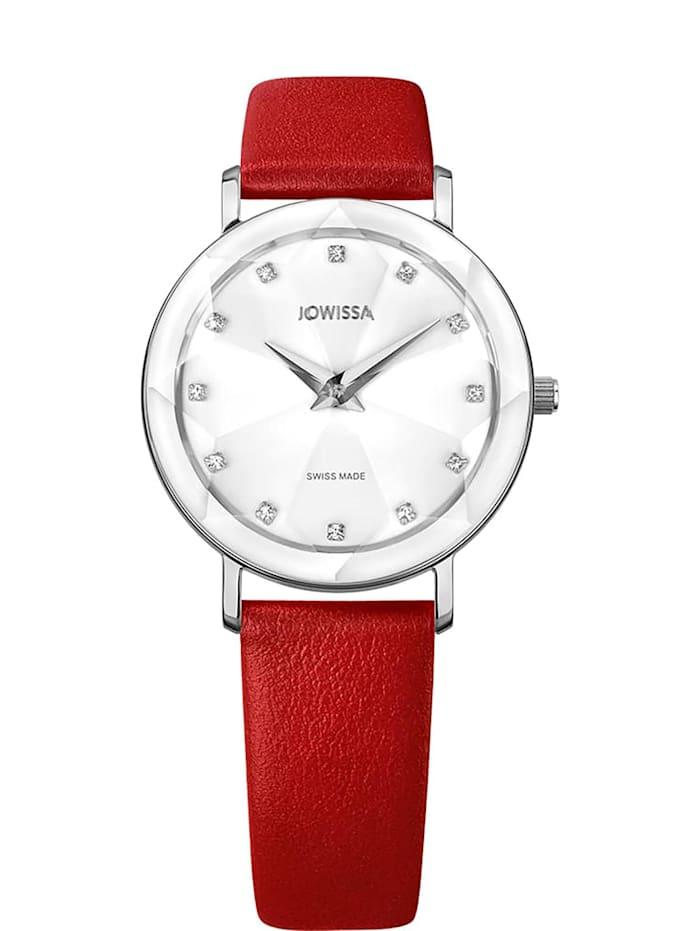 Jowissa Quarzuhr Facet Swiss Ladies Watch, weiß