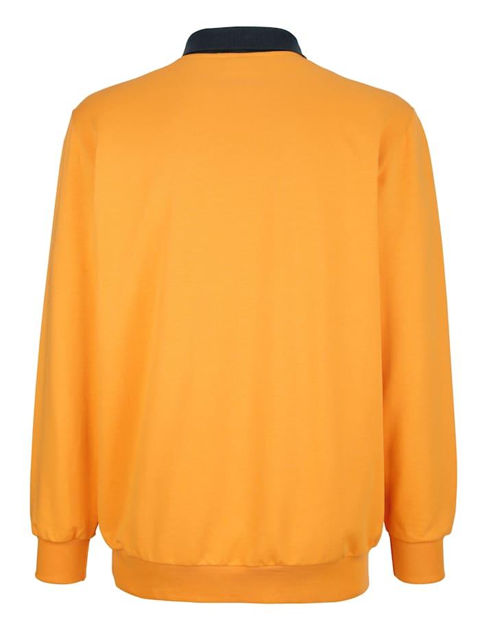 Sweatshirt med krage i kontrast