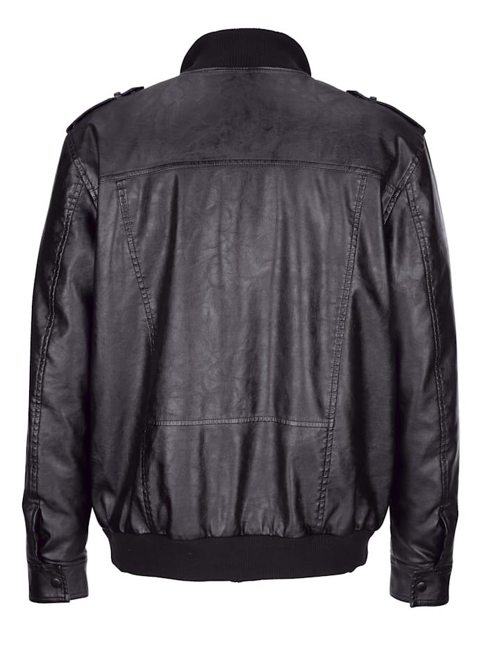 Bluzón v koženom vzhľade