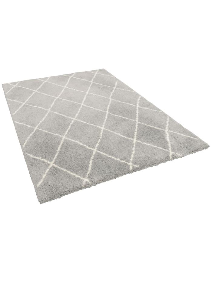 Luxus Shaggy Teppich Silky Soft Modern Rauten