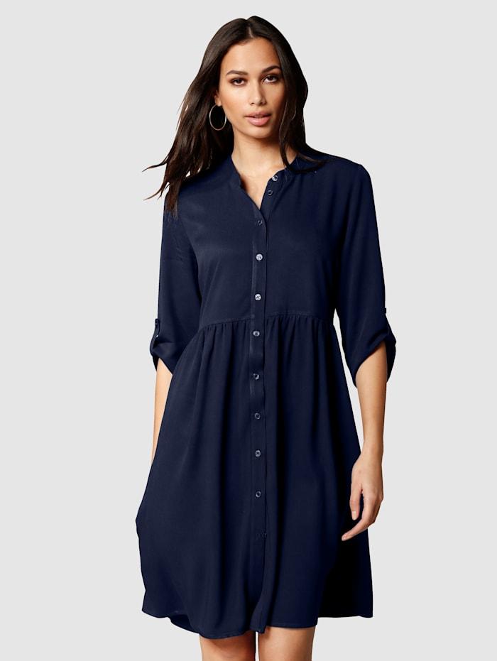 Alba Moda Šaty s malým riasením v oblasti pása, Námornícka