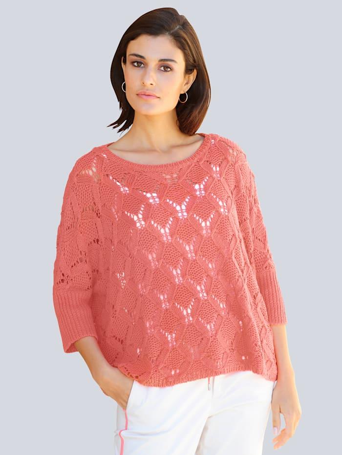 Alba Moda Pullover in Oversize-Form, Koralle