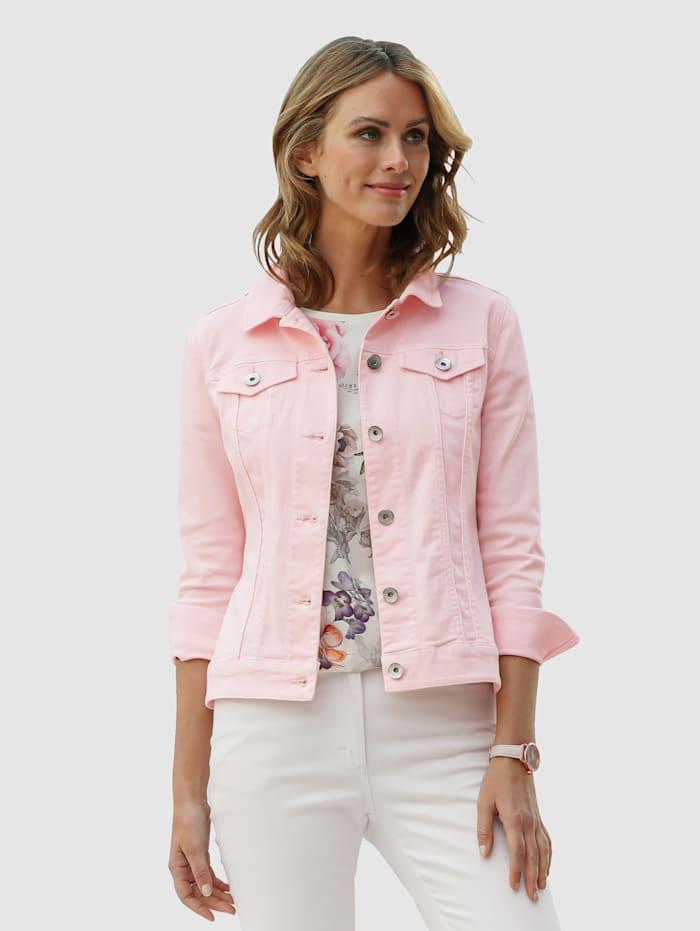 MONA Jeansjakke i elastisk materiale, Rosa