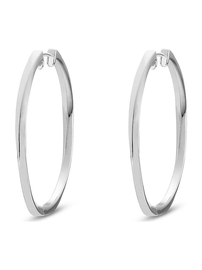 Jette JETTE Silver Damen-Creolen 925er Silber, silber