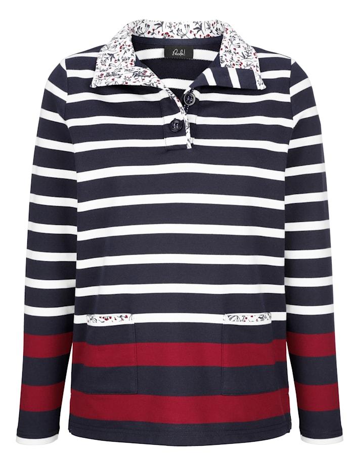 Sweatshirt met gebloemde details