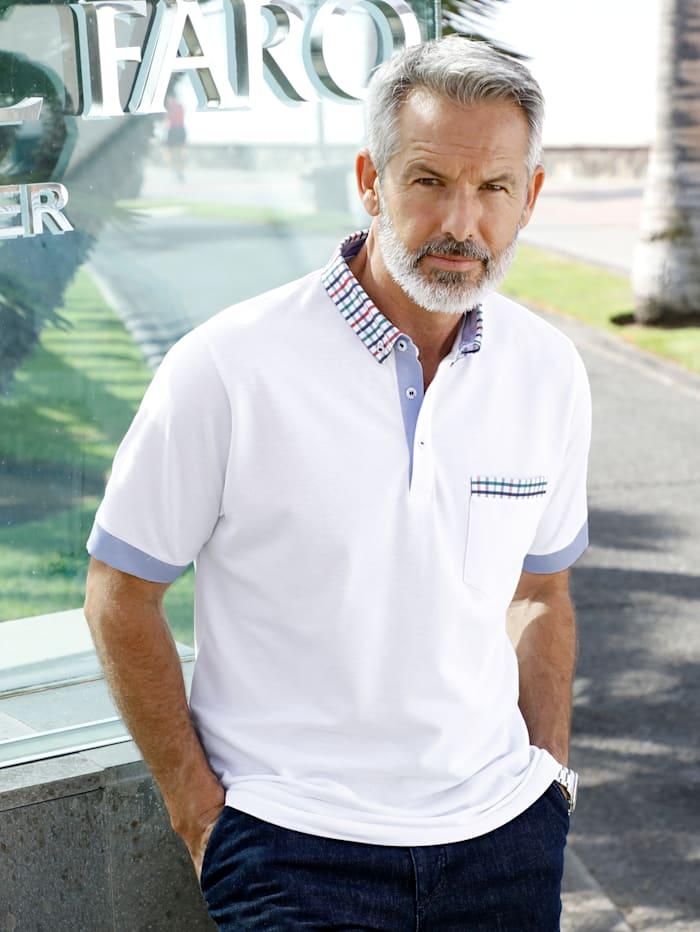 BABISTA Poloshirt van luchtdoorlatend piquémateriaal, Wit