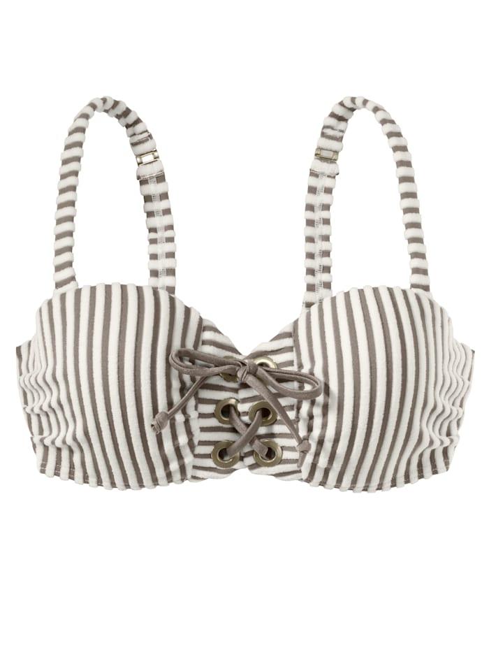BEACHLIFE Bikinitop, weiß-braun