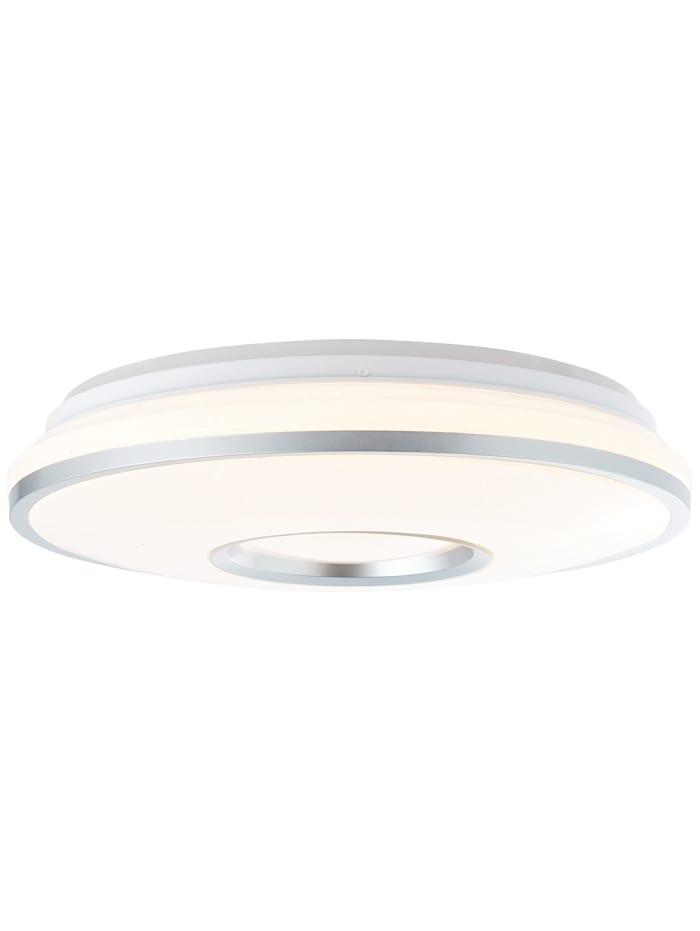 Brilliant Visitation LED Deckenleuchte 39cm weiß-silber, weiß-silber