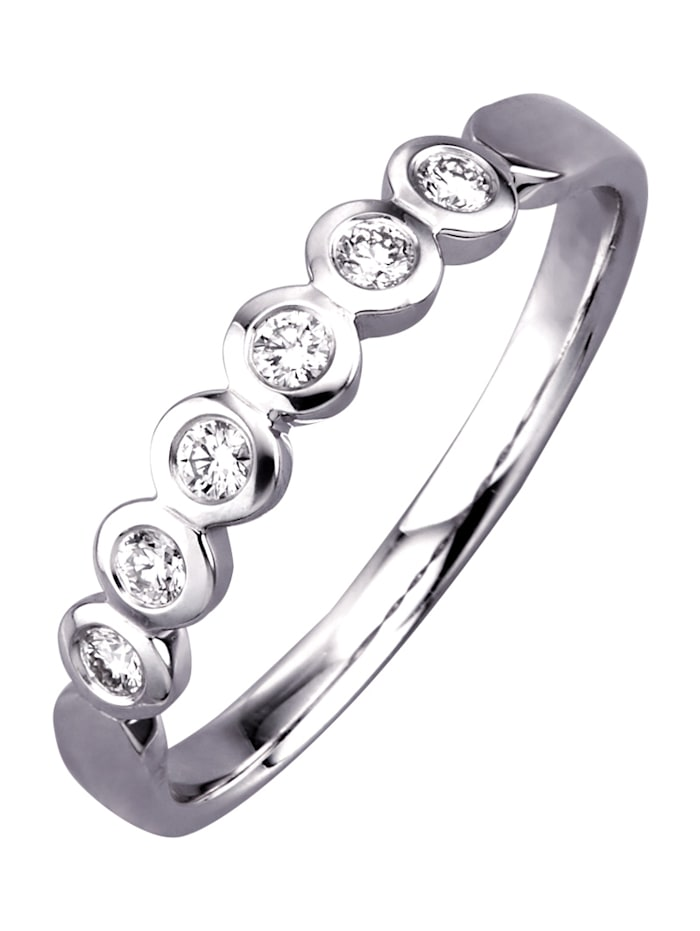 Diemer Diamant Memoirering mit Brillanten, Weiß