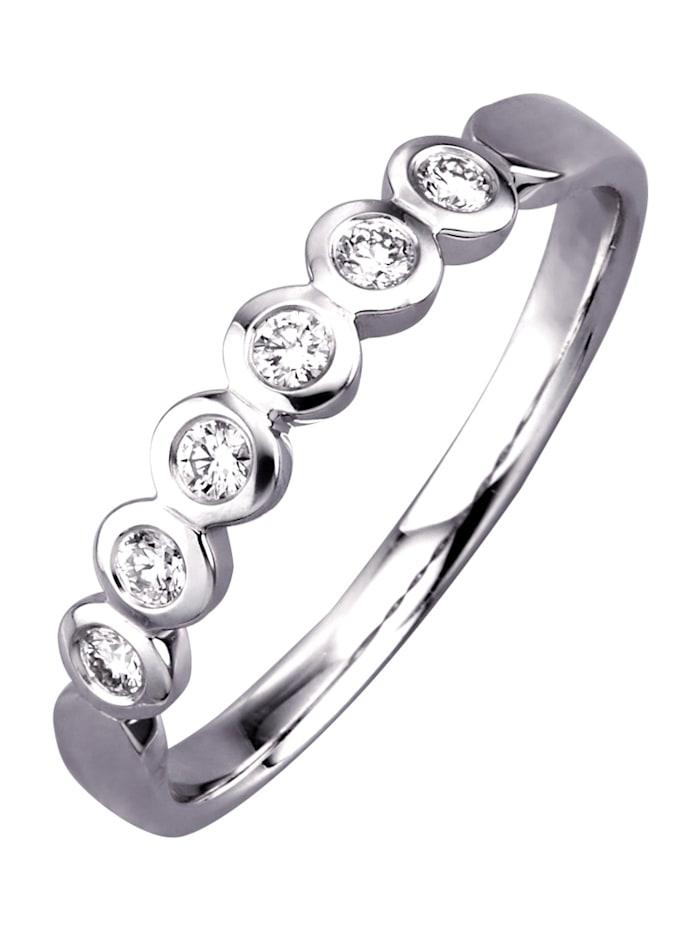 Diemer Diamant Memory-ring met briljanten, Wit