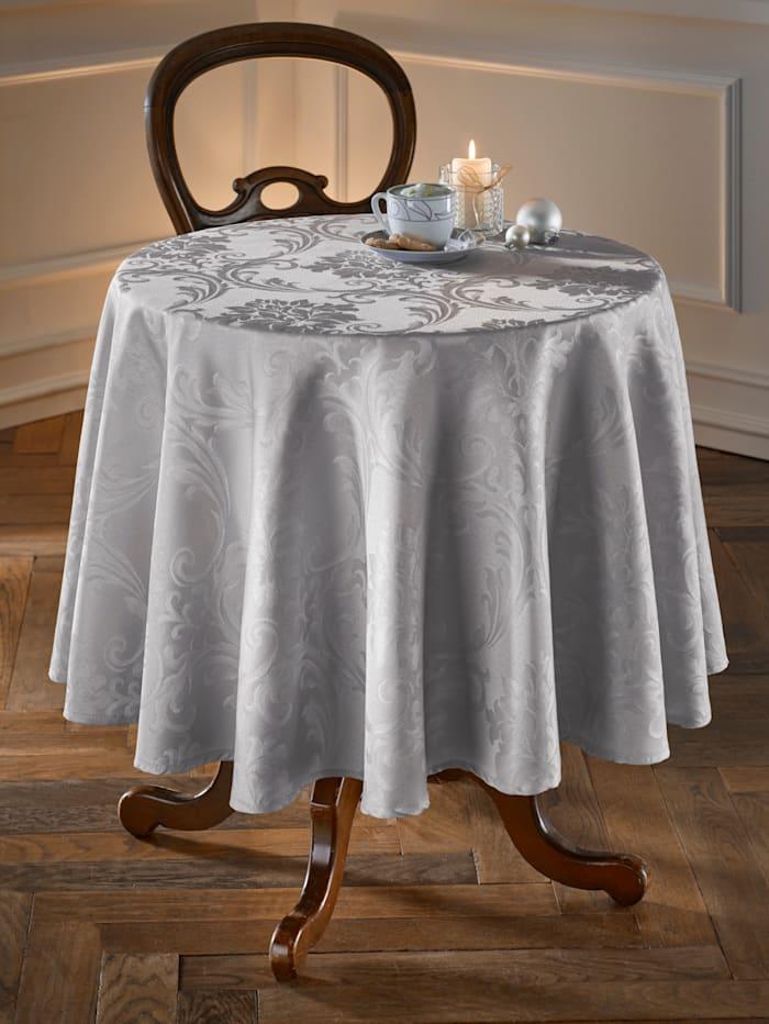 Webschatz Dukserie i damast, silvergrå