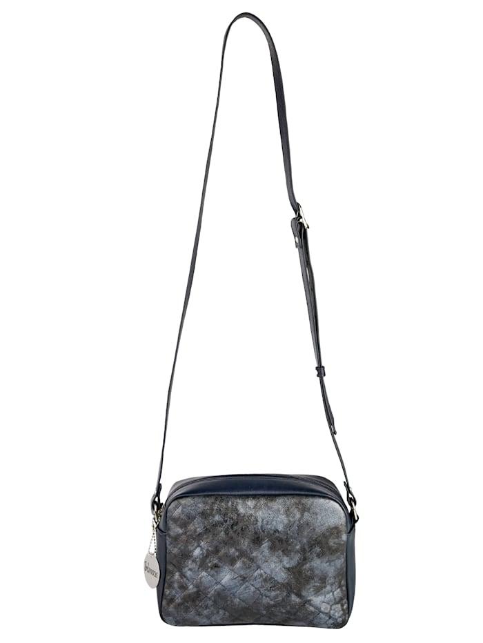 Vamos Umhängetasche mit schöner Steppung, Marineblau