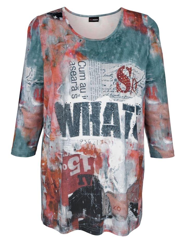T-shirt à rivets fantaisie