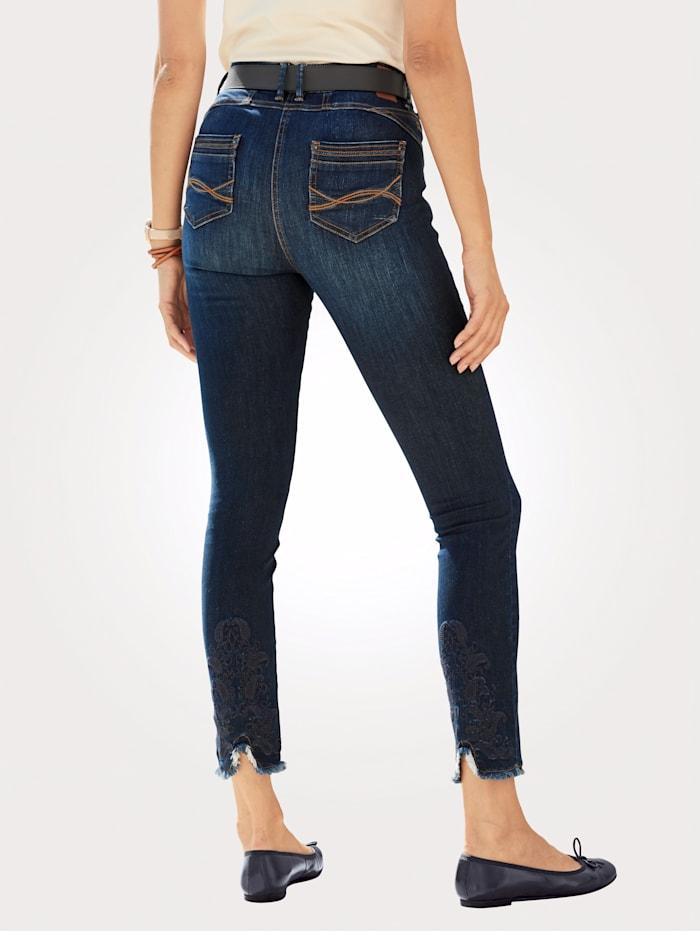 Jeans met modieuze franjes