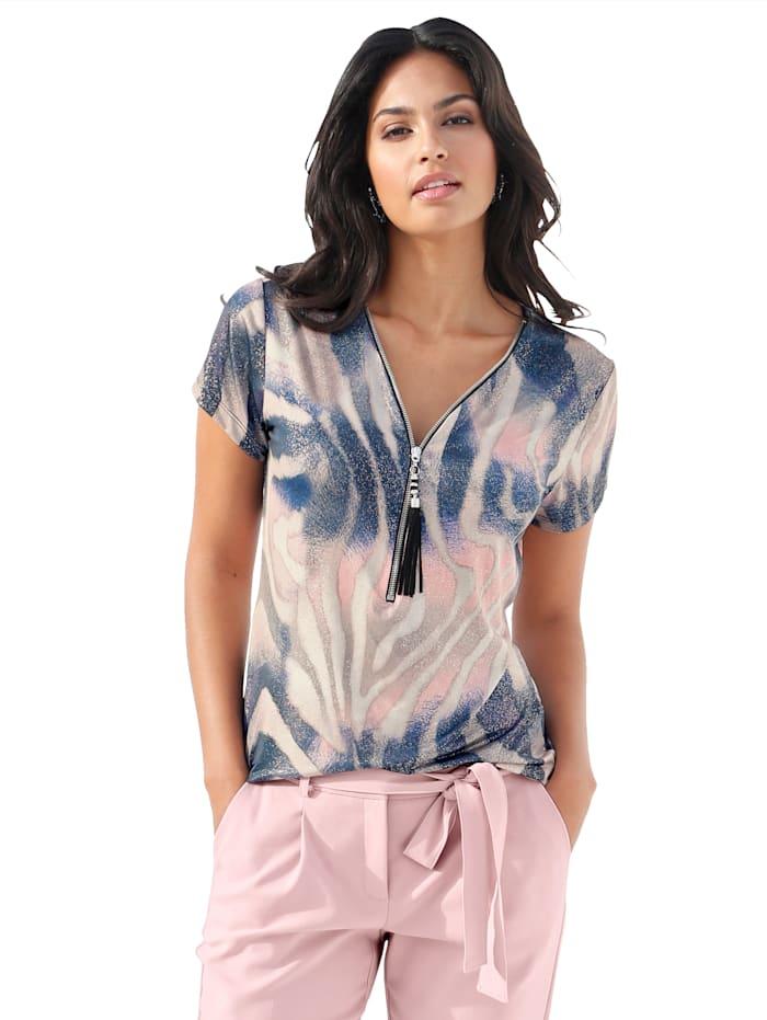AMY VERMONT Shirt mit modischem Druck, Multicolor