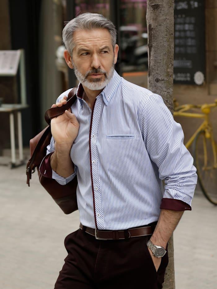 BABISTA Hemd mit eingesetzter Paspeltasche, Weiß/Blau