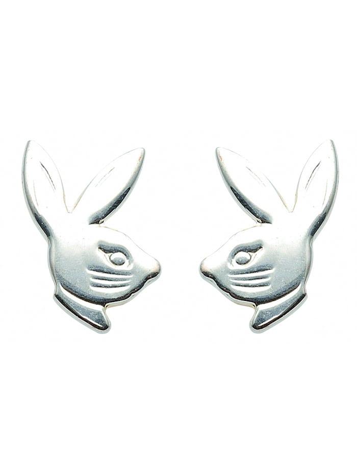 1001 Diamonds Damen Silberschmuck 925 Silber Ohrringe / Ohrstecker Hasenkopf, silber